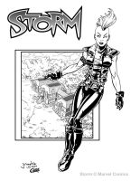Storm of the XMen Inked by Cadre