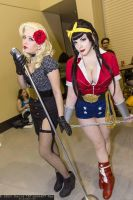 Bombshell Wonder Women and Black Canary by PookieBearCosplay