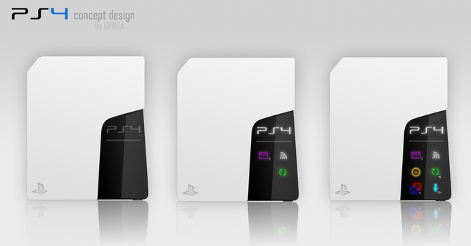 PS4 concept design (white) by GYNGA