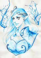 Elven Ice Queen by Saganu