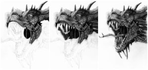 Dragon (In 3 steps) by deathlouis