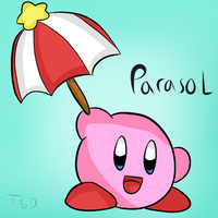 Kirby Tuesday- Parasol by thegamingdrawer