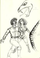 Euripides and Rainbow snake by IronOutlaw56