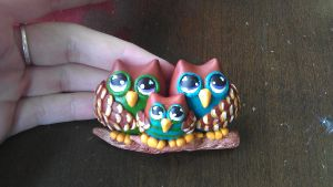 owl magnets by ColleensCritters