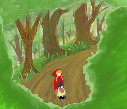 Paint Chat: Red Riding Hood by myu2k2