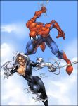 Spiderman and Blackcat by rubinh0
