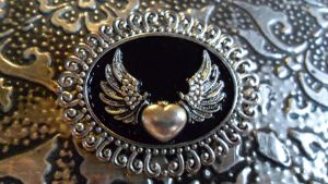 Winged Heart Pin by TheLovelyBoutique
