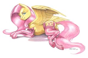 Fluttershy in stockings color by Baron-Engel