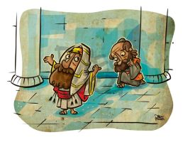DBF pharisee and tax collector by pocza
