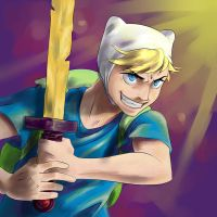 Finn the Human-Art Trade by BlackHime