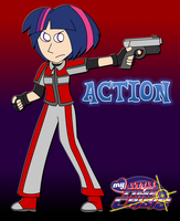 My Little Time Crisis - ACTION! (Human Twilight) by Joeycrick