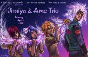 Jiraiya and Ame Trio Contest by jesterry