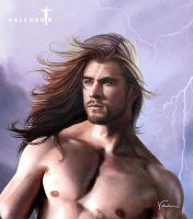 Thor face detail by Valerhon