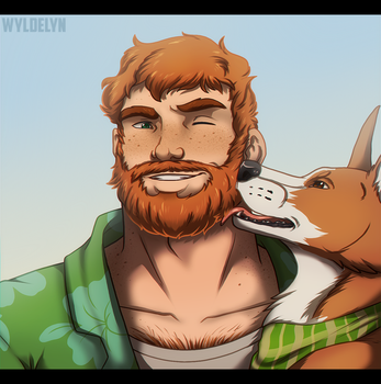 Dream Daddy - Brian by WyldeElyn