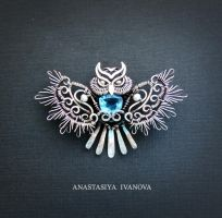 owl brooch by nastya-iv83