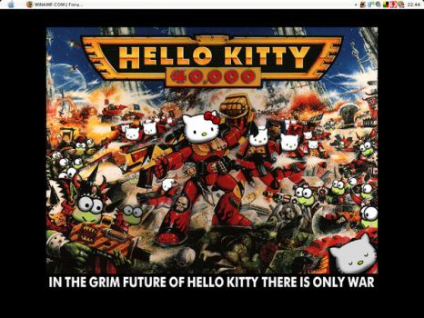 Hello Kitty Desktop by vie