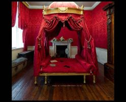 Red Passionate Bedroom by GaryTaffinder