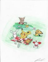 Pika family by Puppetgirl101