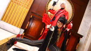 Bayonetta and danta by neoangelwink