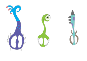 Monsters Inc Keyblades by MetalShadowOverlord