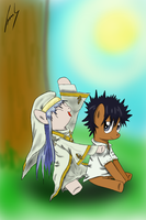 Index and Touma. by SadnessGuy