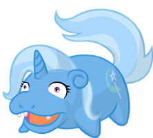 Trixie is slowpoke by Klarnetist