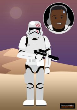 FINN is disillusioned with the First Order by DinosaurCat