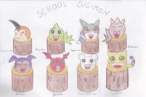 Escuela Digimon by AsuruiHiane