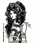 Steam Punk Beauty - Traditional ink by anime-master-96