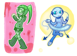 Pastel Androids x2 by CutieKaboom