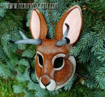 Jackalope Mask by merimask
