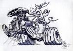 Rat Rod sketch design 1 by Peterkat