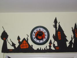 Nightmare town and clock by Lord-Vincent
