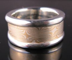 Mokume Gane Ring with Rails by Sothoth