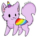 Unicorn Cat by ppooppiie123