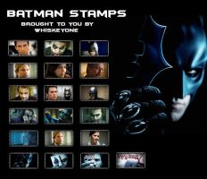 19 Batman Stamps by whiskeyone
