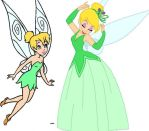 Tinker Bell As A Fairy And A Princess by adrianaTheGirlOnFire