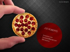Circular Pizza Business Card by axylus