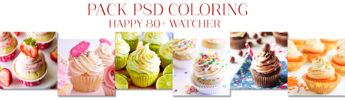 [PACK] PSD Coloring Happy 80+ Watcher by HanaKim2001