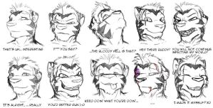 SCRAP - Drake Faces by Drake-TigerClaw