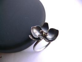 patinated orchid ring by irineja