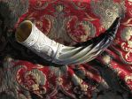 Freyr wedding horn, matched pair pic 3 by Bonecarverpm