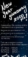 New Year Giveaway 2013 by AyaYanagisawa