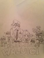 Detective Waluigi is on the case!  by ReereeandWally101