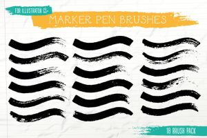 Marker Pen Brushes for Illustrator by Jeremychild