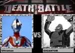 death battle idea Ultraman vs GIGANTOR by codeuphero01