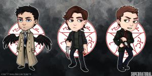 Supernatural Sticker Set by kaalashnikov