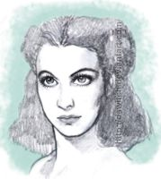 Vivien Leigh by Dawitch