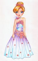 Princess Dress (Colored) by funandcake