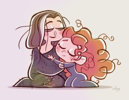 Chibies Queen Elinor and Princess Merida by princekido